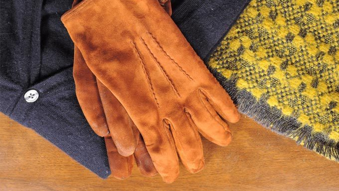 ムートン製の手袋